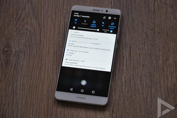 Huawei Mate 9 notificaties