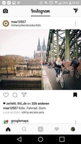 Instagram bladwijzer
