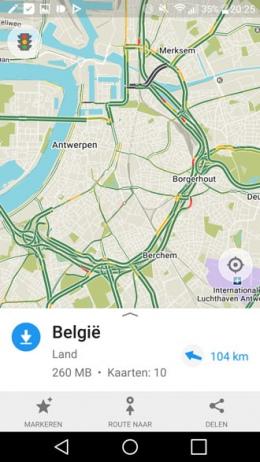 Maps.me 7.0 verkeersinformatie
