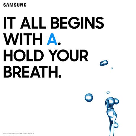 Samsung Galaxy A (2017) water teaser