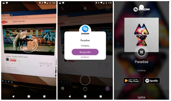Snapchat 9.45 Shazam