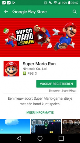 Super Mario Run Android Play Store