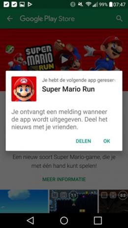 Super Mario Run pre-order