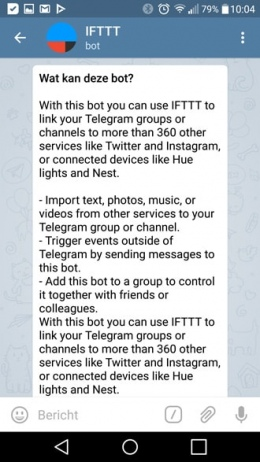 Telegram 3.15 IFTTT
