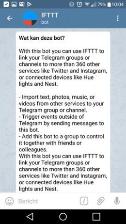 Telegram 3.15 IFTTT