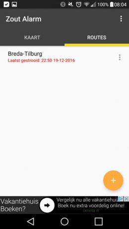 Zout Alarm app