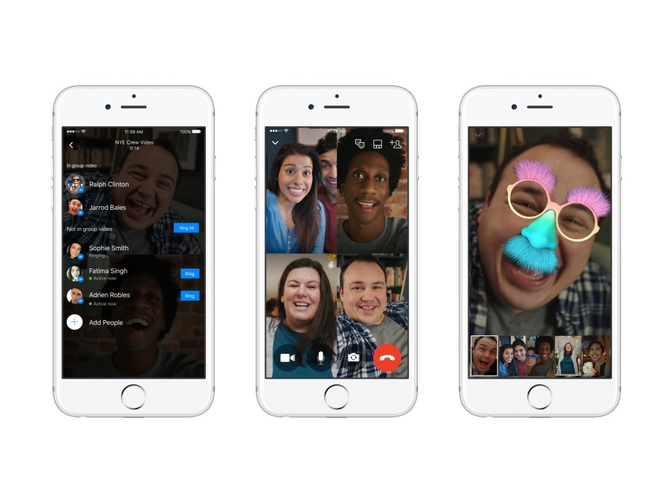 Facebook Messenger videobellen voor groepen