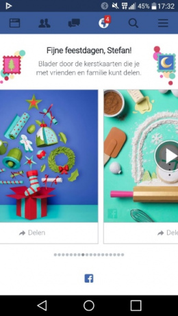 Facebook kerstkaart