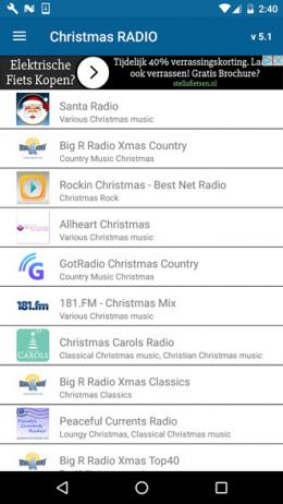 kerst radio app