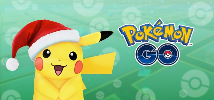 Pokémon Go viert de feestdagen met speciaal evenement