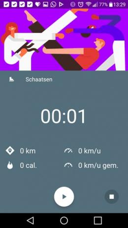 Google Fit Schaatsen