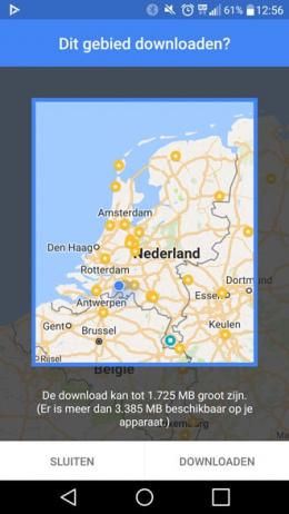 Google Maps Nederland offline