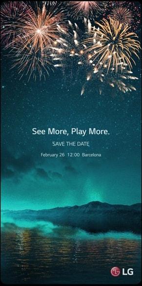 LG G6 invite MWC