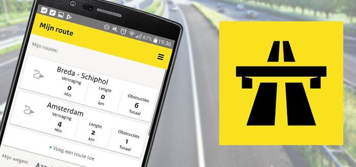 Rijkswaterstaat Actueel app geeft je overzicht van werkzaamheden, files en de beste route