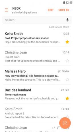 Samsung E-mail app