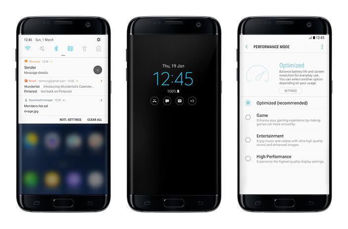 Samsung Galaxy S7 Edge Android 7.0 Nougat