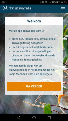 Tuinvogels app
