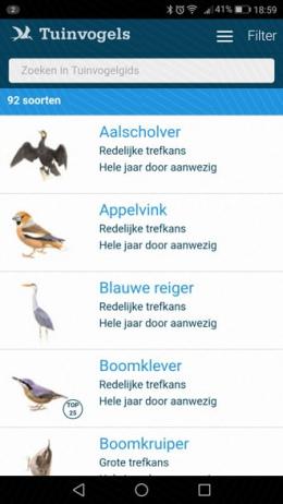 Tuinvogeltelling app