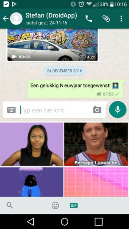 WhatsApp 2.17.6 Giphy