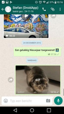 WhatsApp 2.17.6 Giphy gif