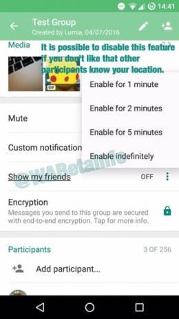 WhatsApp locatie delen
