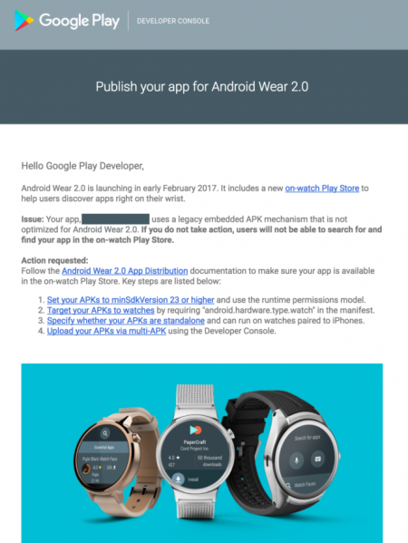 Android Wear 2.0 in februari
