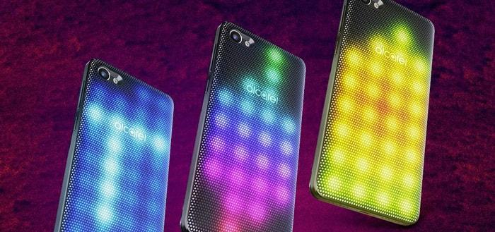 Alcatel presenteert A5 LED met cover vol lichtjes; en twee andere smartphones