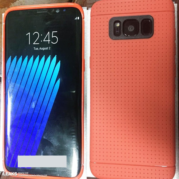 Galaxy S8 in case