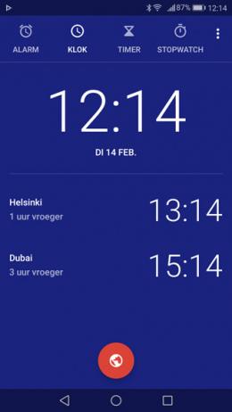 Google Klok 5.0 Tijdzone