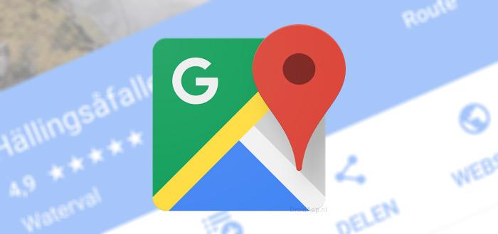 Google Maps vervangt blauwe kleur in kaarten voor wit