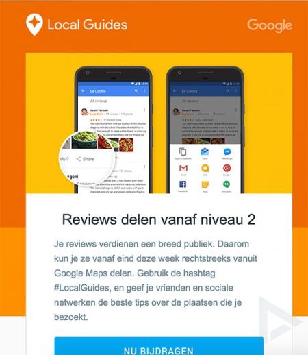 Google Maps delen reviews