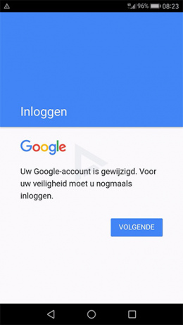 Google Android inloggen