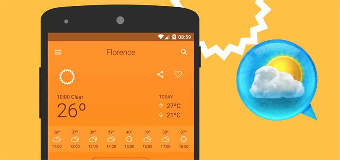 'Het Weer 14 dagen Pro' tijdelijk afgeprijsd in Play Store voor 0,10 eurocent