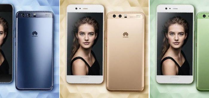Persfoto's Huawei P10 tonen toestel in verschillende, stijlvolle kleuren