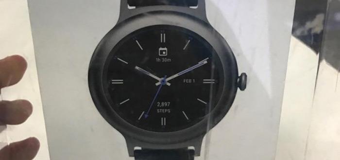 LG Watch Style verkooppakket opgedoken en toont foto van zwarte smartwatch