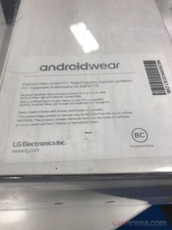 LG Watch Style verkooppakket