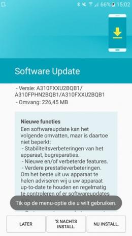 Samsung Galaxy A3 2016 beveiligingsupdate februari 2017