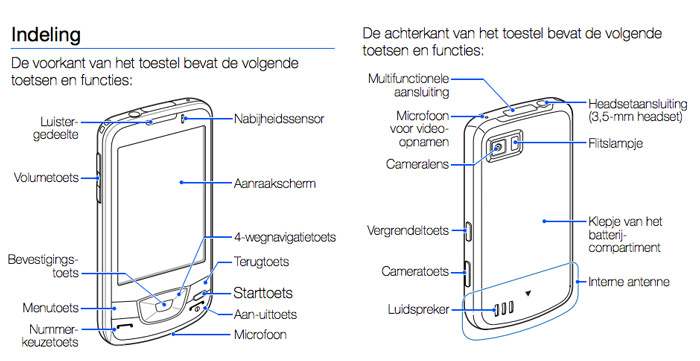 Samsung i7500 Galaxy handleiding