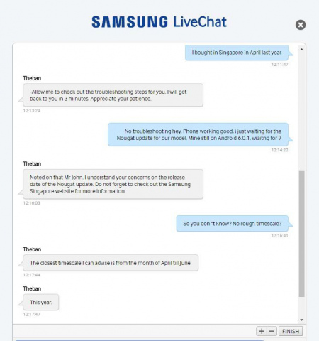 Uitrol Nougat Galaxy S7