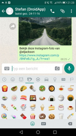 WhatsApp 2.17.43 emoji