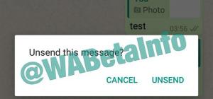 WhatsApp berichten intrekken