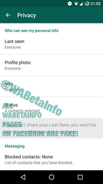 Whatsapp Info