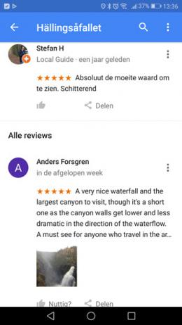 Google Maps reviews delen