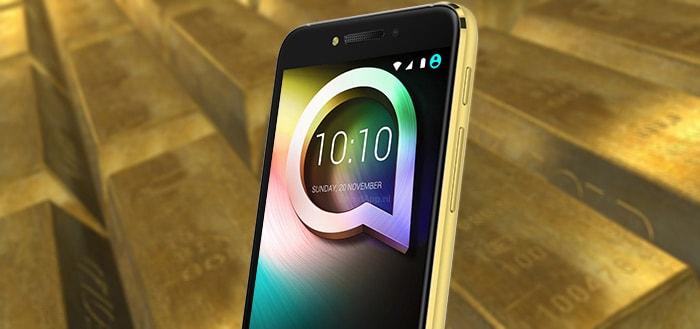 Alcatel lanceert 24-karaats Shine Lite smartphone en is duurste Alcatel ooit