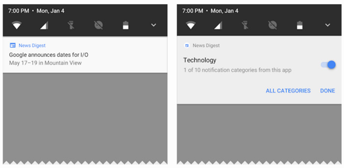 Android O notificaties