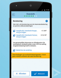 Belastingdienst aangifte 2016 app