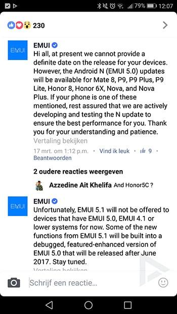 EMUI 5.1 update