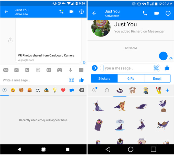 Facebook Messenger nieuwe interface