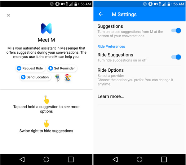 Facebook Messenger M assistent