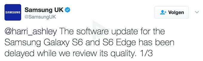 Galaxy S6 update Nougat vertraagd